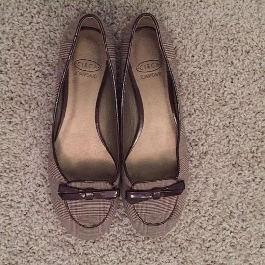 Circa Joan & David Brown and tan Flats