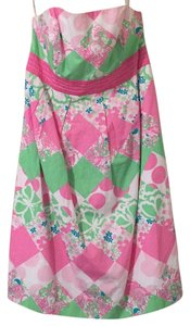 Lilly Pulitzer short dress Pink, green, white and blue on Tradesy