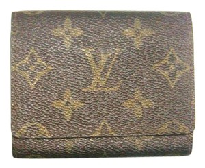 Louis Vuitton Mini Business Card Credit Slim Monogram Canvas Leather Wallet w/ Box