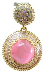 Other New Pink Cat Eye Chalcedony 925 Silver Pendant