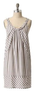 Maeve short dress Anthropologie Slate Stripes Shift Striped Date Night on Tradesy