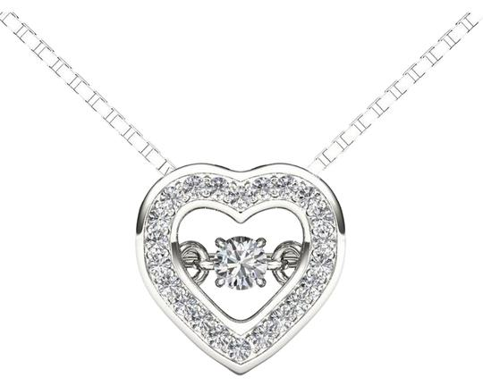 Preload https://img-static.tradesy.com/item/19414196/10kt-white-gold-020-ct-diamond-heartbeat-pendant-necklace-0-1-540-540.jpg