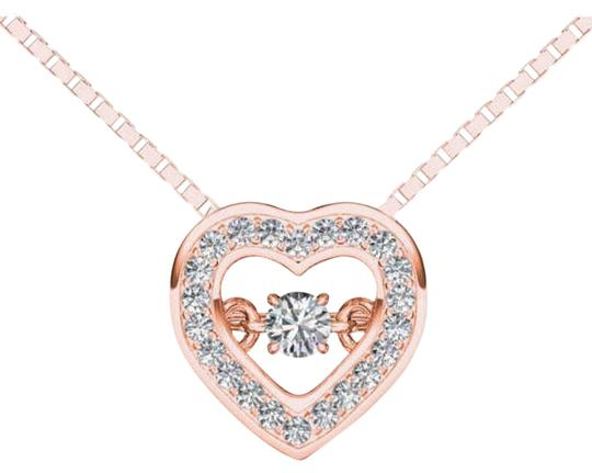 Preload https://img-static.tradesy.com/item/19414220/10kt-rose-gold-020-ct-diamond-heartbeat-pendant-necklace-0-1-540-540.jpg