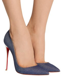Christian Louboutin Leather So Kate 120mm Denim Pumps