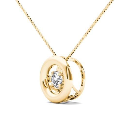 Elizabeth Jewelry 10Kt Yellow Gold 0.10 Ct Diamond In Motion Pendant
