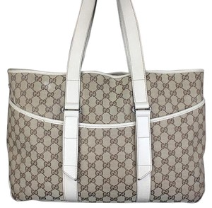 Gucci Monogram Gg Tote in beige white