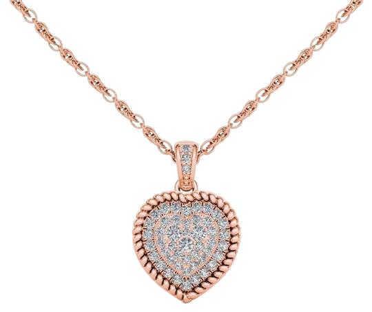 Preload https://img-static.tradesy.com/item/19414277/10kt-rose-gold-025-ct-diamond-heart-pendant-necklace-0-1-540-540.jpg