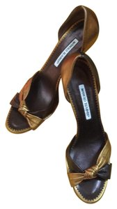 Manolo Blahnik Gold and bronze Formal