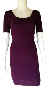 Free People short dress Purple Stretch Knit Bodycon Pull-on on Tradesy