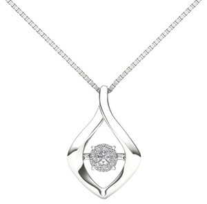 Elizabeth Jewelry 10Kt White Gold Diamond in Motion Pendant