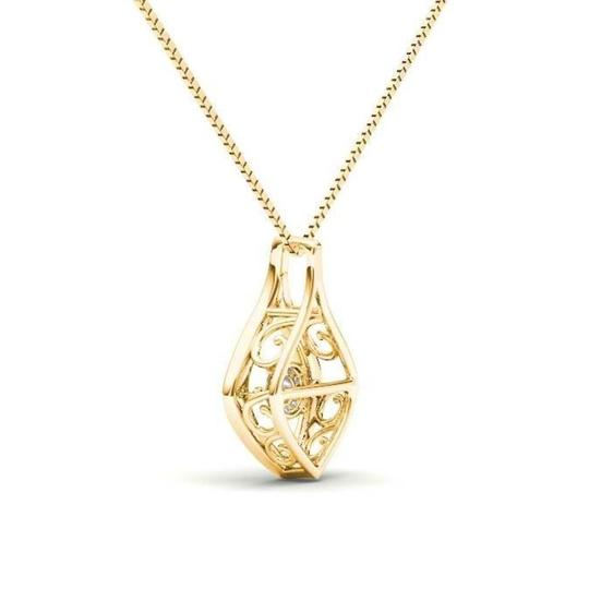 Elizabeth Jewelry 10Kt Yellow Gold Diamond in Motion Pendant