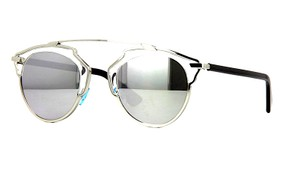 Dior DIOR DIOR SO REAL APPDC - SILVER METAL with CRYSTAL TRIM and SILVER MIRRORED LENS
