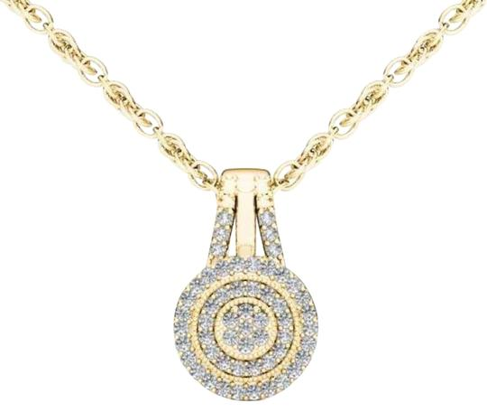 Preload https://img-static.tradesy.com/item/19414350/10kt-yellow-gold-diamond-halo-pendant-necklace-0-1-540-540.jpg