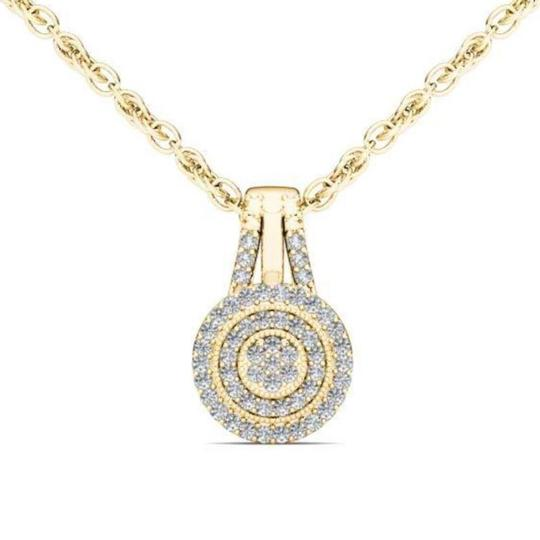 Elizabeth Jewelry 10Kt Yellow Gold Diamond Halo Pendant