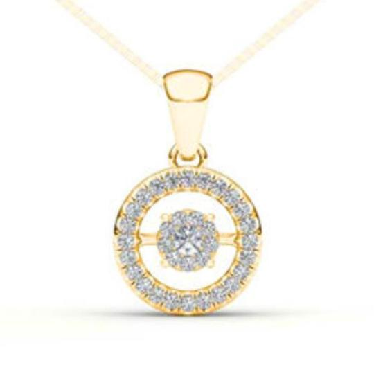 Elizabeth Jewelry 10Kt Yellow Gold 0.15 Ct Diamond in Motion Pendant