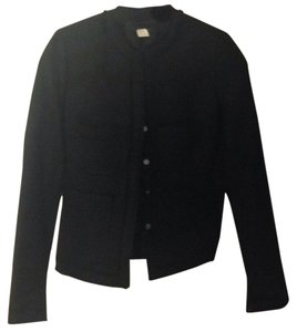 J.Crew Black with mother of pearl buttons Blazer