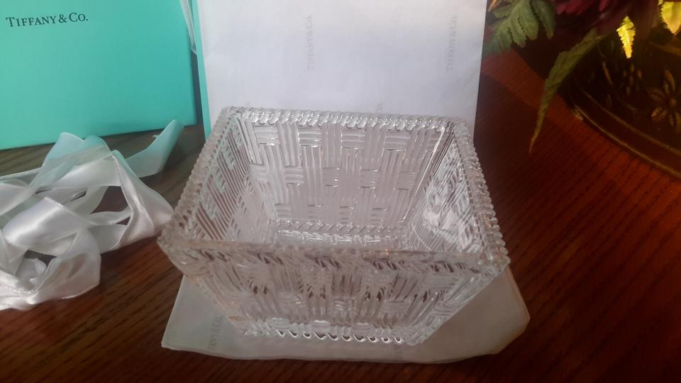 Tiffany Amp Co Nwot Crystal Basket Weave Bowl On Sale 62 Off