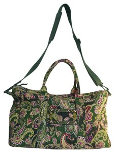 Vera Bradley Chelsea Green Travel Bag