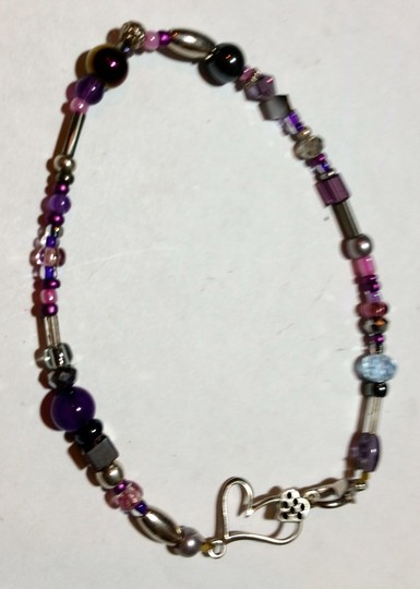 Other New Black & Silver Anklet Handmade J3543