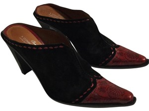 Donald J. Pliner Black red Mules