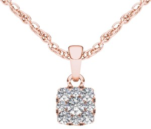 Elizabeth Jewelry 10Kt Rose Gold 0.25 Ct Diamond Pendant