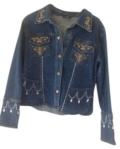 La Belle blue Womens Jean Jacket