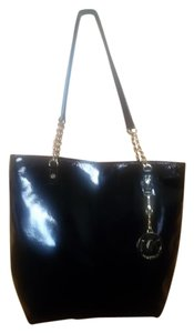 Michael Kors Patent Leather Tote in BLACK