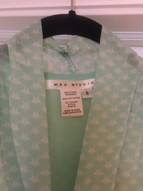 Max Studio Top Green/Mint and White