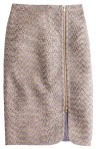 J.Crew Zipper Pencil Brand New Skirt Beige, pink, plum