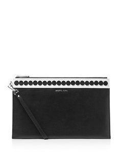 Michael Kors Kors Mk Nwt Black / White Clutch