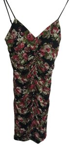 Route 66 short dress Black and red floral on Tradesy