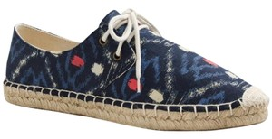 J.Crew Canvas Sneakers Free Shipping Size 8 Navy Blue Flats