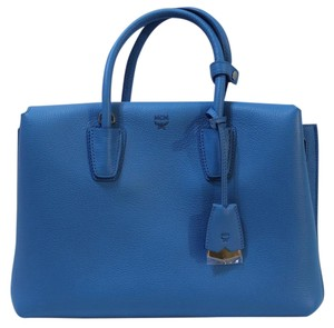 MCM Nwt 8806195805442 Tote in Tile Blue