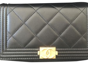 Chanel Chanel Boy Zip Around Wallet