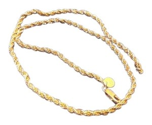 Tiffany & Co. Vintage Tiffany 14K Gold and Sterling Silver Rope Necklace