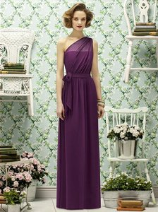 Lela Rose Wild Berry Crinkle Chiffon Lr188 Bridesmaid/Mob Dress Size 12 (L)