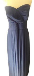 After Six Sailor Blue Chiffon Style 6669 Formal Bridesmaid/Mob Dress Size 22 (Plus 2x)