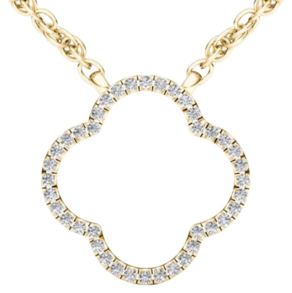 10kt yellow gold 010 ct diamond clover pendant necklace tradesy elizabeth jewelry 10kt yellow gold 010 ct diamond clover pendant aloadofball Image collections