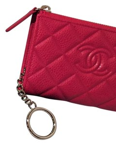 Chanel Chanel Leather Quilted Key Holder/Wallet