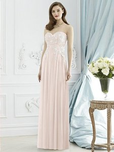 Dessy Blush Soft Tulle 2948 Bridesmaid/Mob Dress Size 10 (M)