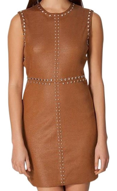 Preload https://img-static.tradesy.com/item/19415592/brown-uliana-above-knee-cocktail-dress-size-2-xs-0-1-650-650.jpg