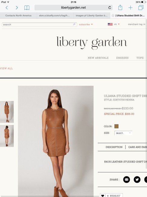 Liberty Garden Studded Faux Suede Sexy Dress