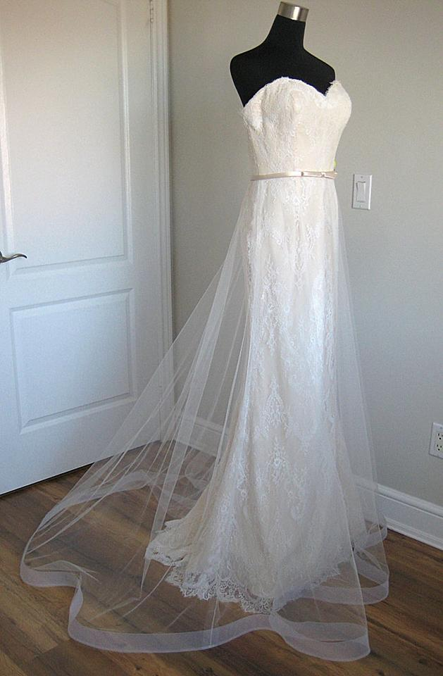 Mon Cheri Ivory Pearl Lace Enchanting 116134 Destination Wedding Dress Size 8 M