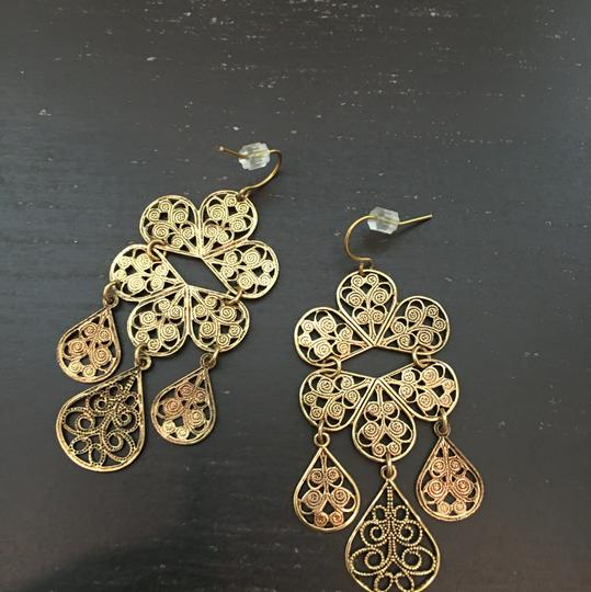 Other Gold Filagree Drop Earrings
