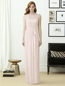 Dessy Blush Lux Chiffon 2963 Bridesmaid/Mob Dress Size 12 (L)