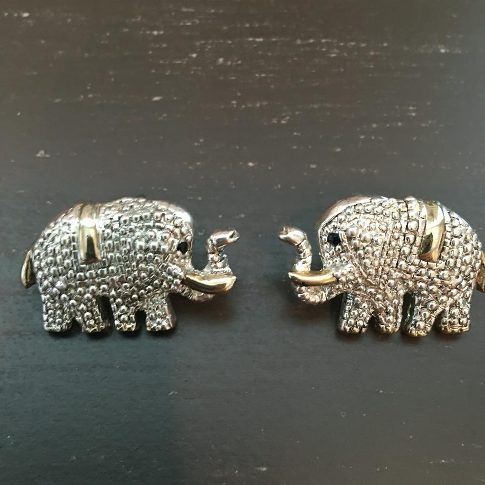 elephant silver thumbnail products gauge unique fake shaped stud plug earrings animal original in