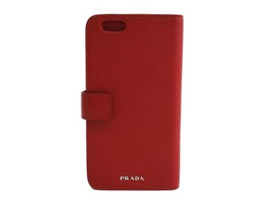 Prada PRADA Red Leather iPhone 6 Plus Cell Phone Case