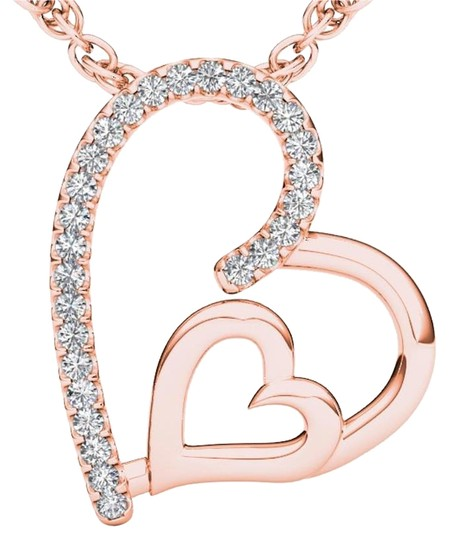 Preload https://img-static.tradesy.com/item/19415743/10kt-rose-gold-diamond-heart-pendant-necklace-0-2-540-540.jpg