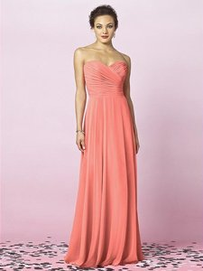 After Six Ginger Lux Chiffon 6639 Bridesmaid/Mob Dress Size 12 (L)