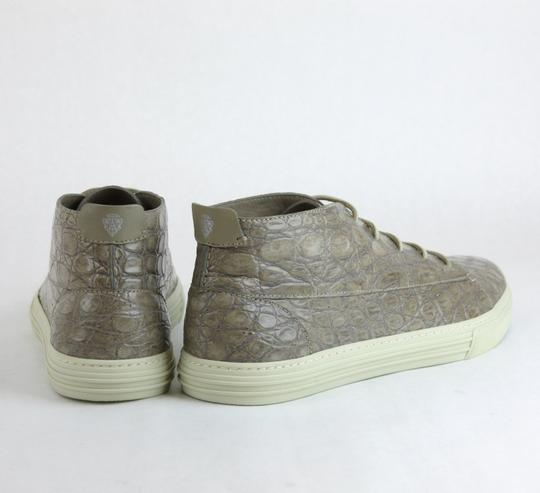 Gucci Tan 1523 Men's Crocodile High-top Sneaker 342045 Size 10 G/Us 10.5 Shoes